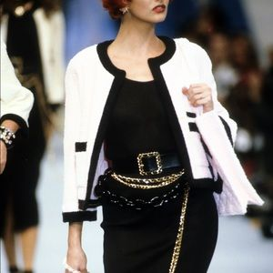Chanel Vintage Spring 1992 White Terry Jacket